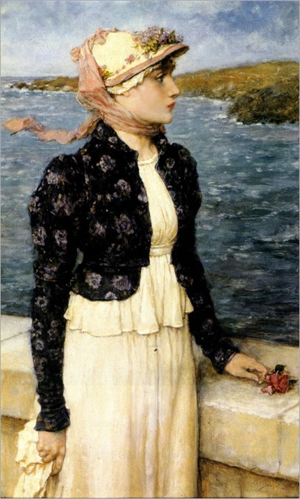 the sea breeze by george henry boughton