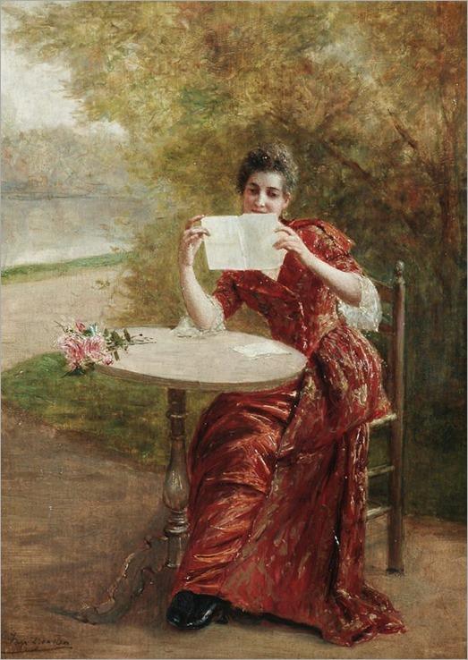 The St. Valentine Letter. Georges Pierre Marie van den Bos (Belgian, 1853-1911)