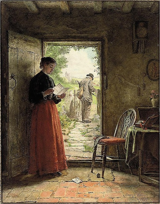 the welcome letter_George Hardy (british, 1822-1909)