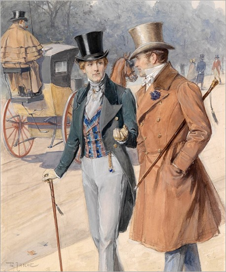 Theodor Zasche (Austrian, 1862-1922)  Zwei Herren in der Hauptallee