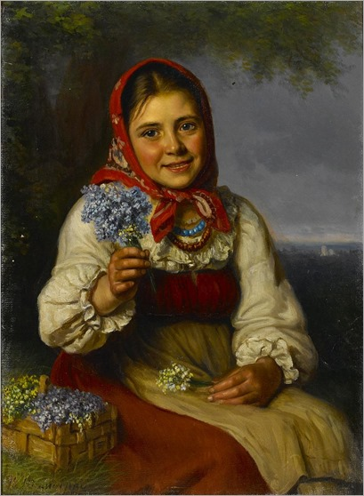 Vasily T Timofeev_Seller of spring flowers
