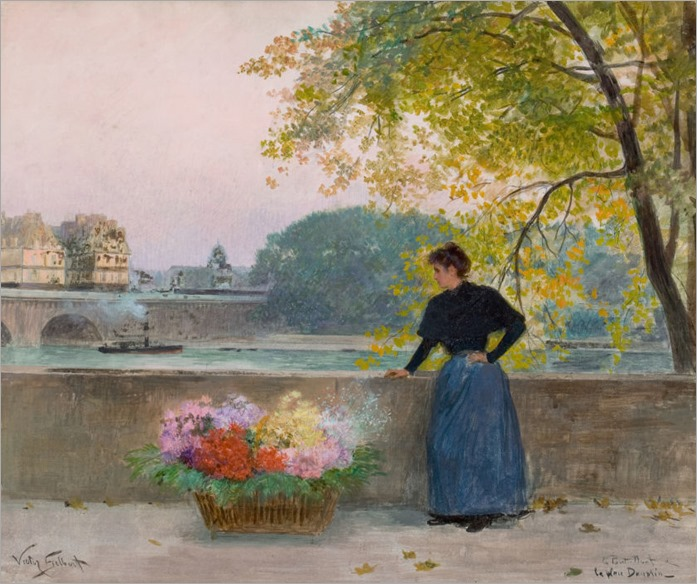 VICTOR GABRIEL GILBERT (French, 1847-1933). Le Pont Nuit (La Place Dauphin), circa 1890-95