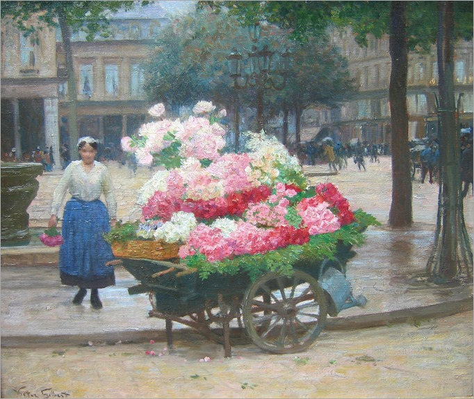 Victor Gabriel Gilbert (french, 1847-1933)-the flower seller