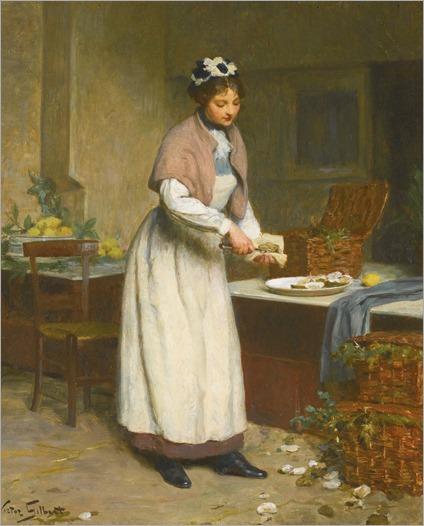 Victor Gabriel Gilbert (french, 1847-1935) - La marchande d´huitres