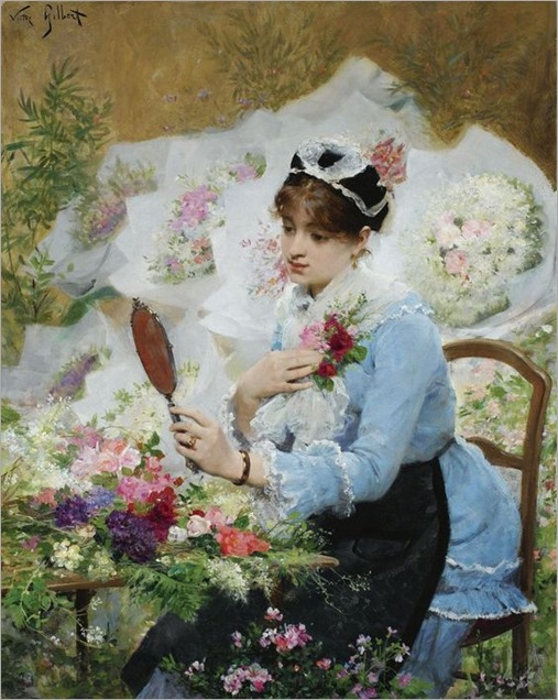 Victor Gabriel Gilbert (French, 1847 - 1935)- The Flower Seller