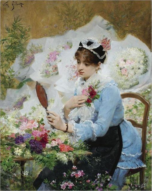 Victor Gabriel Gilbert (French, 1847 - 1935)- The Flower Seller
