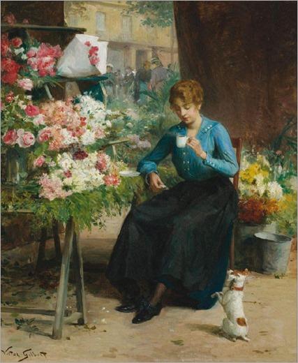 Victor-Gabriel Gilbert - La jolie fleuriste