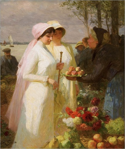 Victor Gabriel Gilbert, La Vendeuse des Pommes (The Apple Seller)