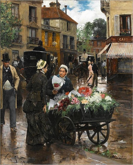 Victor-Gabriel Gilbert - Selling Flowers, Paris 1879