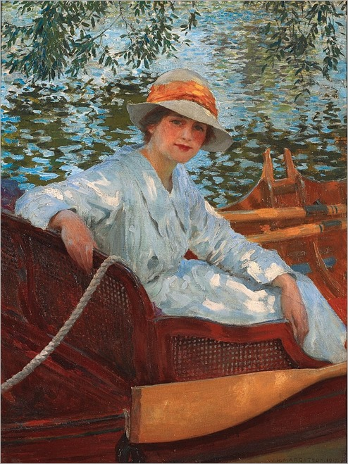 WILLIAM HENRY MARGETSON - A Summer's Row