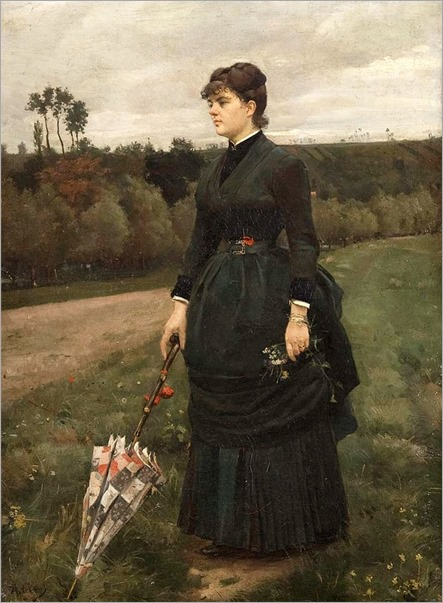 6.Alfred Stevens (Belgian 1823-1906)