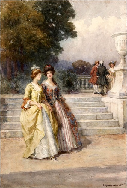 8.George Sheridan Knowles ( British, 1863-1931)An afternoon stroll