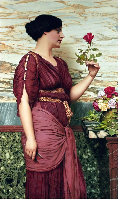 a red, red rose_John W. Godward