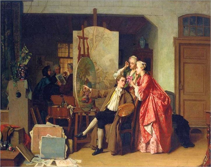 A Visit to Watteau's Studio -jean-carolus