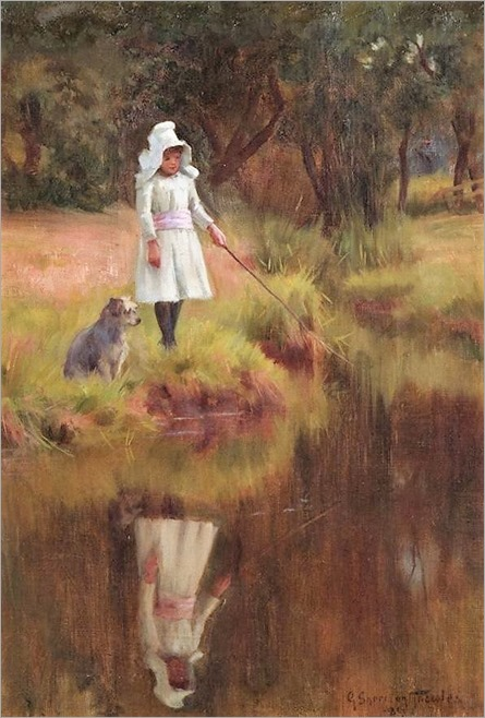 a walk by the river - George Sheridan Knowles ( British, 1863-1931)