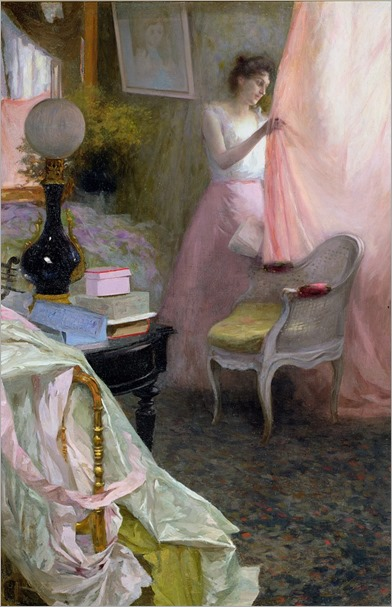 albert-bréaute-woman-in-a-interior