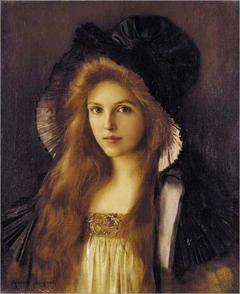 Albert Lynch (Peruvian artist, 1851-1912) Woman in a Large Hat