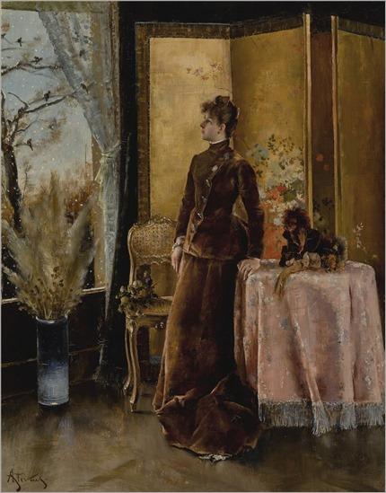 Alfred Stevens (1823-1906) La neige