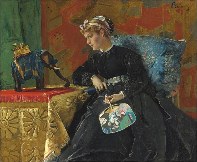 Alfred Stevens (1823 - 1906) - The exotic trinket