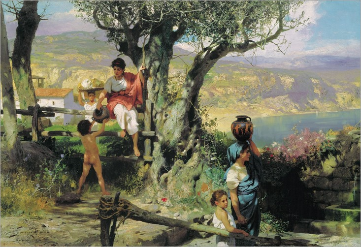 Ancient Rome. In a Village - H. Semiradsky