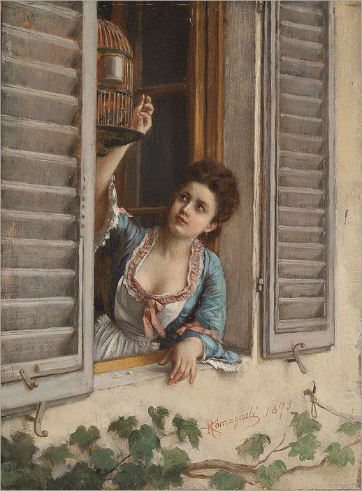Angiolo_Romagnioli_Der_kleine_Liebling_1873