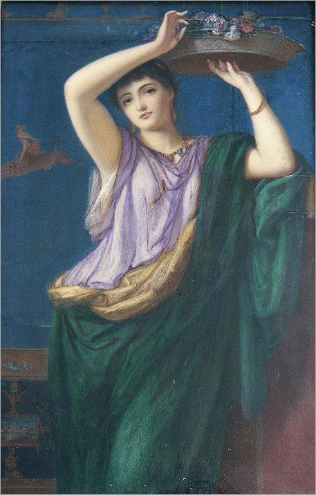 Augustus Joules Bouvier (1825-1881),the flower maiden-1867
