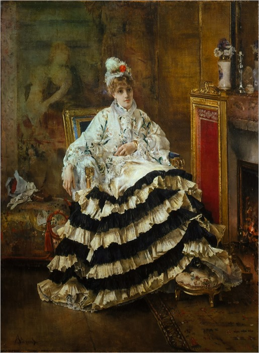 Avant le Spectacle-Alfred Stevens
