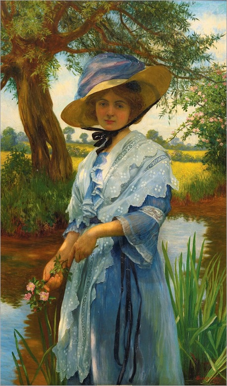 By the River - William Savage Cooper 1913