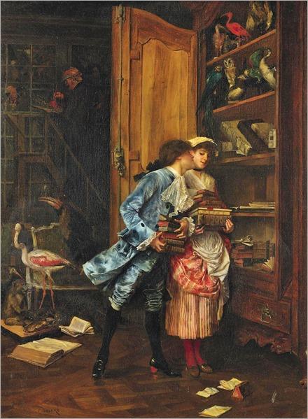Charles-Édouard-Edmond Delort (1841 - 1895) - Stolen kisses (2)
