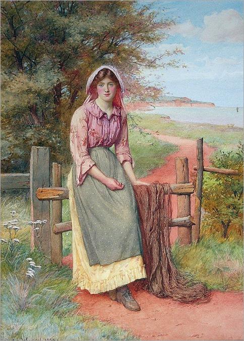CHARLES EDWARD WILSON (1854-1941) AWAITING THE FLEET'S RETURN-1904