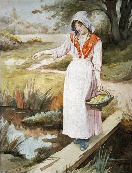 Charles Edward Wilson (1854-1941). Gathering Primroses