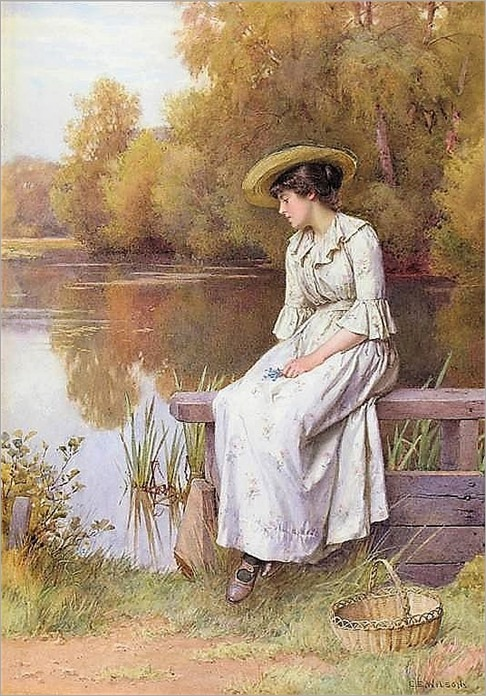 Charles Edward Wilson (British, 1854-1941).A pensive moment