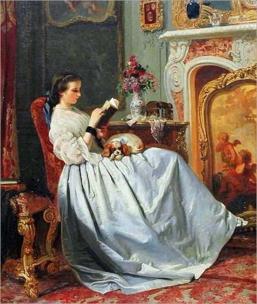 Charles-L-Baugniet-the reader