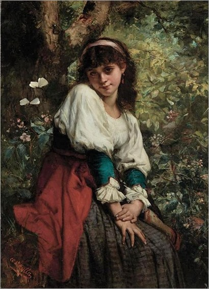 Charles Louis Lucien Muller French, 1815-1892 Day Dreamer