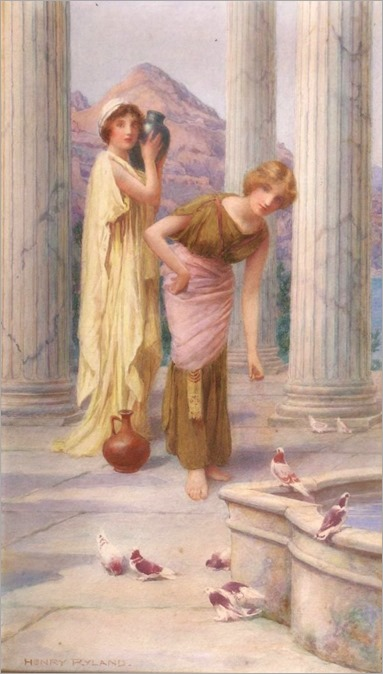 classical-maidens-feeding-birds-henry-ryland