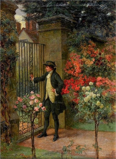 come to the garden gate by George Sheridan Knowles ( British, 1863-1931)