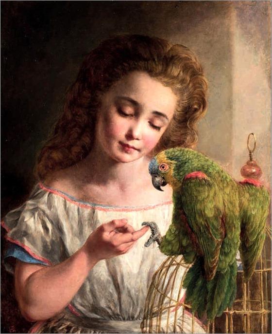 Edward Holmes (fl.1841-1891) Shake hands Polly