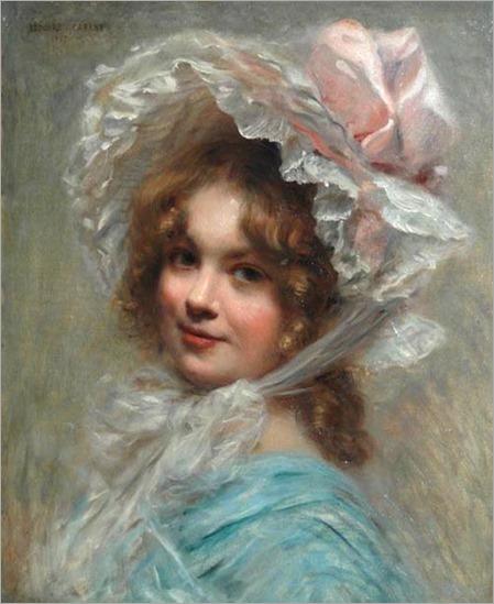 Elégante au chapeau-1907-Edouard Cabane