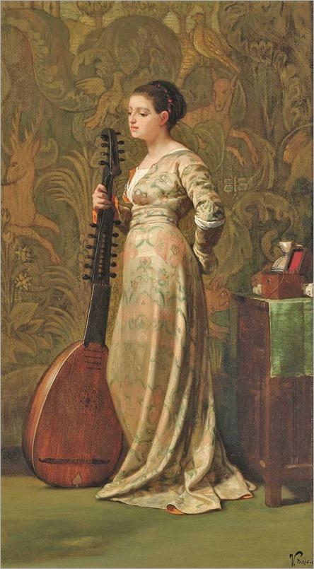 elihu-vedder-1836-1923.-dama-com alaúde