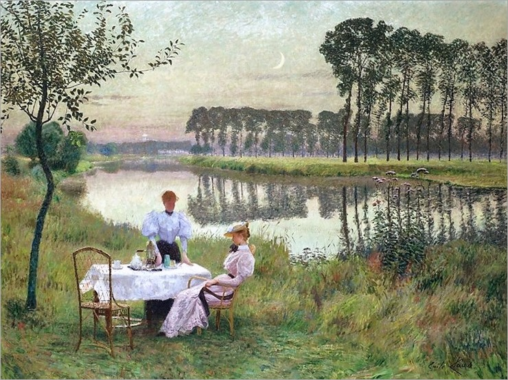 Emile Claus (Belgian, 1849-1924) Soiree D'Ete. 1895