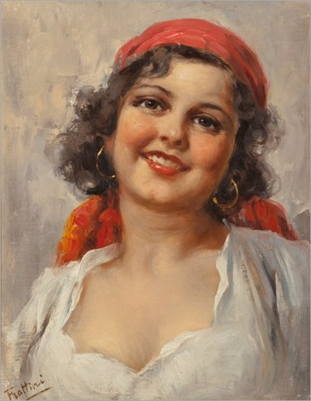 Enrico Frattini (Italian, 1890-1968). Gypsy Women (two works).