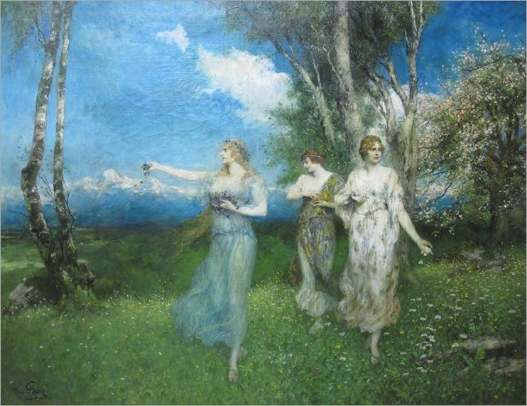 Flower Gatherers - Ferdinand Leeke
