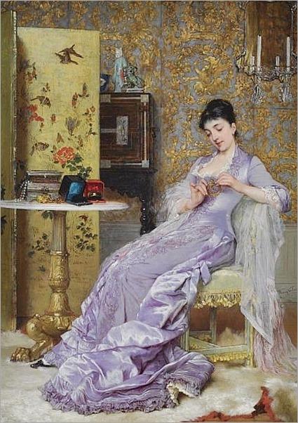 Frans Verhas , Belgian 1827-1897 the new bracelet