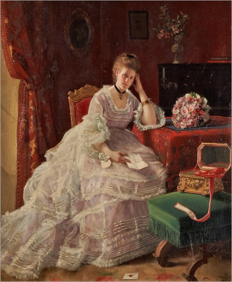Friedrich Karl Steinhardt (1844-1894), German THE LOVE LETTER
