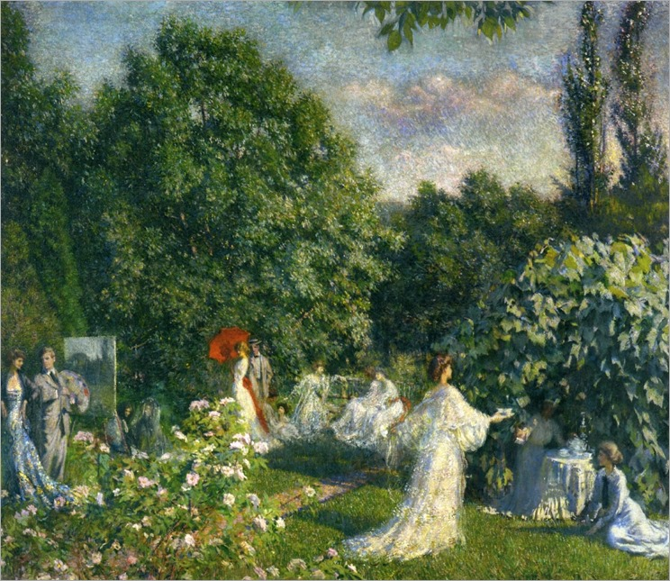 Garden Party -1899- Philip Leslie Hale (american painter)