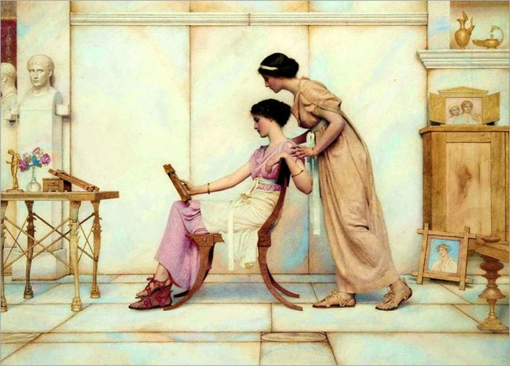 George Lawrence Bulleid (British, 1858-1933) - The young artist