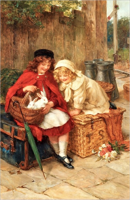 George Sheridan Knowles (english, 1863-1931) - A Peek in the Basket