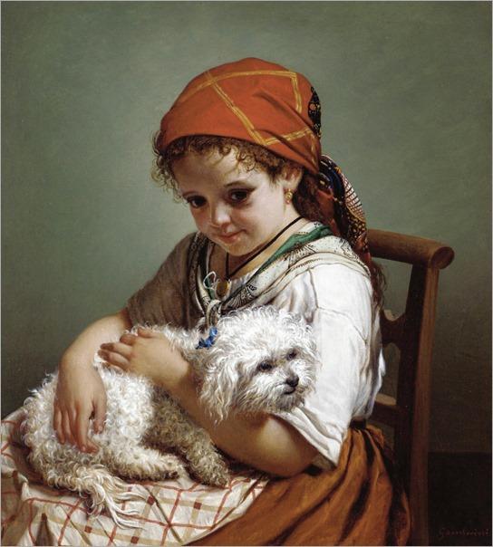 GIOVACCHINO GAMBERINI, italian b.1859 - best friends