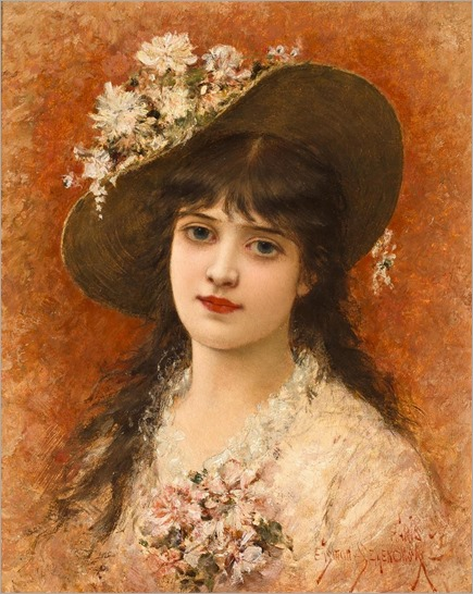 girl with hat - semenowsky