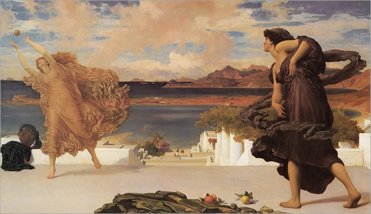 Greek Girls Playing at Ball - 1889 - Frederic Leighton (english painter)
